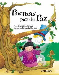 """""""POEMAS PARA LA PAZ"""": Acertado poemario infantil que nos habla de fuego, pobreza, luchas, hambre y esperas, pero también de risas y besos, guerras de caramelo y bombas de bombón. Fantasmas de mentira que alegran el corazón de los niños que no entienden del mal. Preciosas ilustraciones acompañan estos versos aportando vivacidad y colorido a la musicalidad de las palabras."""