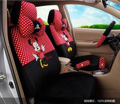 Disney Car Seat Covers and Accessories Featuring Mickey and Minnie