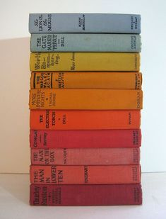 vintage books in color order. #coloreveryday