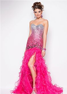Love the ombre!   Blush Prom 9557 Mermaid Dress