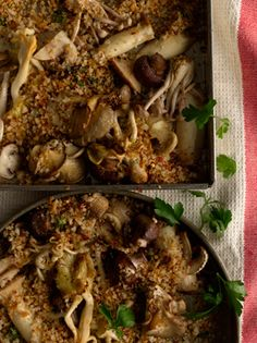 Roasted Mushrooms with Spicy Breadcrumbs