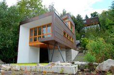 Una casa modern rustic en el lago