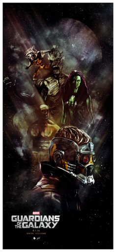 Guardians of the Galaxy - movie poster - Luke Butland