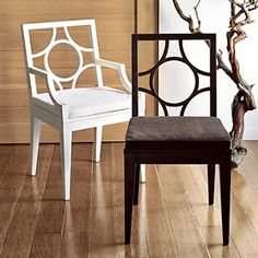 West elm circle cut out chair
