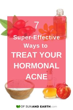 7 Super-Effective Ways to Treat Your Hormonal Acne - Of Sun and Earth - Try these 7 natural and effective home remedies for your other unwanted monthly visitor. Get rid of hormonal acne and keep it away with these DIY skincare treatments. Hormonal Acne Remedies, Pimples Remedies, Scar Remedies, Skin Care Treatments, Natural Treatments, Teenage Acne, Skin Care Home Remedies, Natural Oils For Skin, Flaky Skin