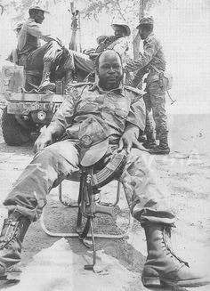 John Garang of South Sudan. A military commander and charismatic leader, he fought for the Independence and freedom of his people who were subjected to oppression under the arabised and Islamised government of the North who threatened the essence of their african culture and identity.