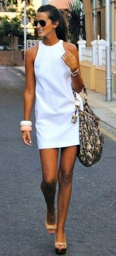 I LOVE a short white dress for summer. Time's running out ....