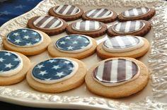 american flag sugar cookies