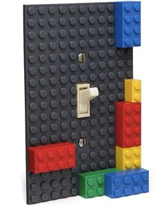 Lego Light Switch Plate. I want to Lego everything in Bentley's room!