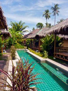 long pool design at Bamboo Heaven Home Phuket, Thailand