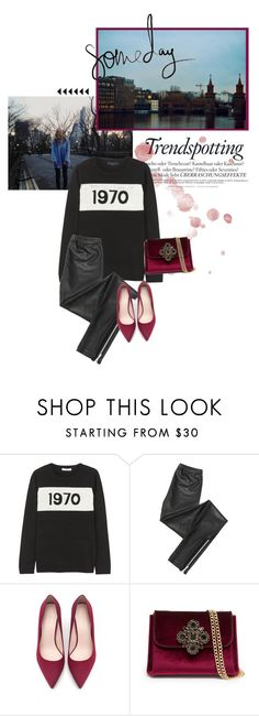 """""""1970. Wir Kinder vom Bahnhof Zoo."""" by cafejulia ❤ liked on Polyvore featuring Melissa, Bella Freud, Blondoll, Zara and Bebe"""