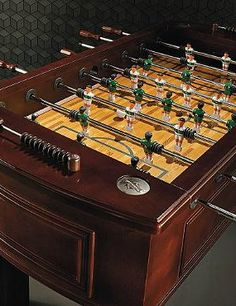 Delight the game lover in your life with the Classic Foosball Table; a handsome take on a game room classic that's sure to encourage hours of fun.