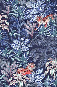 Drawing - Sumatran Tiger, Blue by Jacqueline Colley