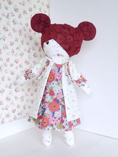This handmade one of a kind doll is the second in my avant garde flower power collection. She makes a wonderful gift for the doll collector and is