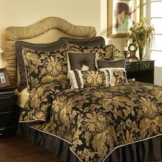 Shop for black and gold comforter sets at Bed Bath & Beyond. Buy top selling products like Nanshing Mollybee Comforter Set and C.