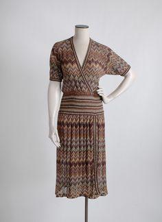 1970s Missoni chevron knit dress, large * hemlockvintage.com