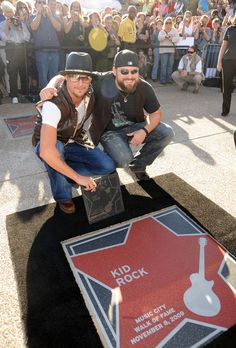 Singer/Songwriter Zac Brown presents Kid Rock's star in Nashville at the Walk of Fame