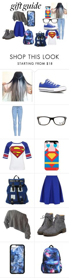 """""""beties"""" by maryjsullivan ❤ liked on Polyvore featuring Mode, Converse, Ray-Ban, Bioworld, Casetify und Saloni"""
