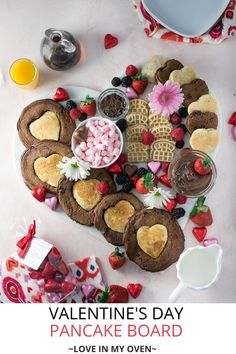 In need of an idea for Valentine's Day breakfast? These double chocolate pancakes can easily be made into heart shaped pancakes for the day of love, or any other reason for celebration! // heart pancakes // double chocolate pancakes Chocolate Pancakes, Pancakes And Waffles, Chocolate Desserts, Valentines Day Dinner, Valentines Food, Valentine Recipes, Easy Desserts, Dessert Recipes, Breakfast Recipes