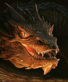 Smaugh, El dragon destructor, El Hobbit.