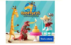 Get aFree Geoffrey Plush Toy Storybook & More at Toys R Us Geoffrey Birthday Club members can get a free Geoffrey plush and The Legend of Geoffrey storybook. Join the Geoffreys Birthday Club and theyll email you a coupon a month before your childs birthday to redeem for your free plush and storybook.     Free Geoffrey Plush Toy Storybook & More at Toys R Us