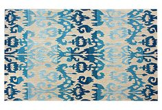 Ikat Rug, Blue/Cream on OneKingsLane.com