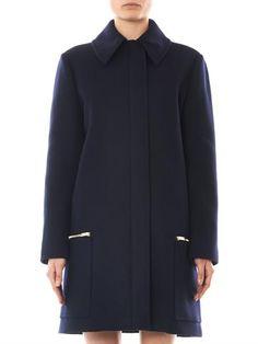 Stella McCartney Forde melton wool coat
