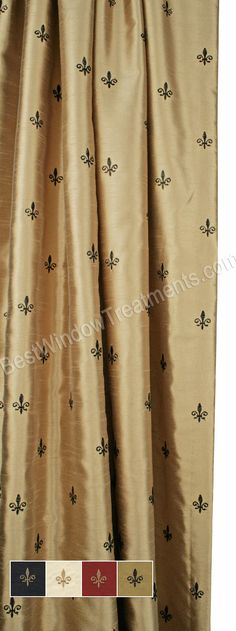 Custom Fleur de Lis Curtain Panel - Lined
