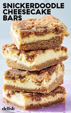 it took way too long to turn these two delicious desserts into one handheld dessert. We're OBSESSED! Get the recipe at .Honestly, it took way too long to turn these two delicious desserts into one handheld dessert. We're OBSESSED! Get the recipe at . Dessert Simple, Churro Cheesecake, Cheesecake Recipes, Snicker Doodle Cheesecake, Homemade Cheesecake, Classic Cheesecake, Fancy Desserts, Köstliche Desserts, Healthy Desserts