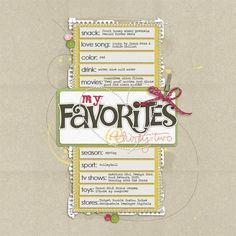 Love this idea for a favorites page!