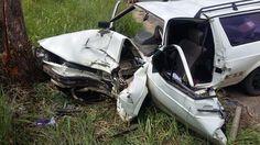 Motorista bate em árvore no Bairro Dona Clara em Timbó e vai para o hospital em estado grave