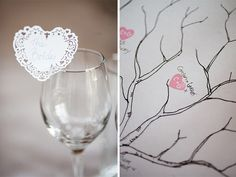 Elegance in a Woodland Setting – Carolyn and Garrett's Brooklodge Wedding Summer Wedding, Dream Wedding, Place Names, Classic Elegance, Stationary, Woodland, Wine Glass, Hearts, Stamp