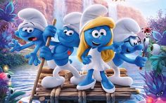 Smurfs, The Lost Village, 2017, all characters, 4k, poster