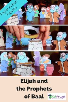 Ideas for teaching about Elijah and the prophets of Baal in 1 Kings 18 Bible Story Crafts, Bible Stories For Kids, Bible Crafts For Kids, Bible Lessons For Kids, Sunday School Activities, Bible Activities, Sunday School Lessons, Sunday School Crafts, Elijah Bible