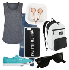 """""""Ootd#8"""" by rwaldrep ❤ liked on Polyvore featuring Frame Denim, Elie Tahari, Vans, claire's, Ray-Ban and adidas Originals"""