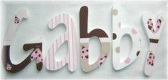 letras en madera para decorar el cuarto - Buscar con Google