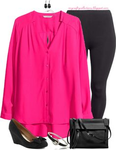 Women's Plus-Size Outfit: Hot Weekend Look! Featuring items from ModCloth, H&M, Boscov's, Piperlime, and Coach.
