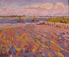 Jan Theodoor Toorop (1858-1928) – Laag water, kanaal te Veere (1910) Frans Hals Museum, Haarlem