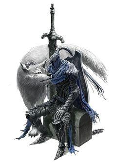 Dark Souls,фэндомы,Artorias The Abysswalker,DS персонажи,Great Grey Wolf Sif,DS art