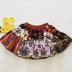 Falling Leaves Molly Skirt ~ Platinum