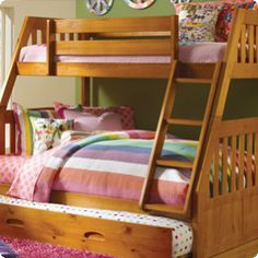Discovery World Furniture Twin over Full Mission Bunk Bed