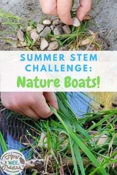 Keep the learning going this summer with a summer STEM challenge! Use things found in nature to design, make, and test a boat! A STEM activity that's perfect for preschool, kindergarten, and early elementary kids. Stem Activities, Outdoor Activities, Stem Challenges, Elementary Science, Preschool Kindergarten, Summer Crafts, Outdoor Gardens, Herbs, Boat