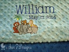 Custom designed personalized baby blankets by www.sun7designs.com Check us out on Facebook for weekly specials and giveaways www.facebook.com/sun7designs