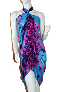 SCARF_TRADINGINC® Rose Jewelry Pareo Scarf Swimsuite Cover-up *** Want to know more, click on the image.