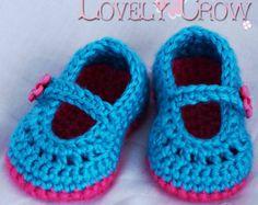 Muchacha botines patrón de ganchillo para bebé Teaparty cashmir - 4 tamaños - recién nacido a 12 meses. 2 correa estilo opciones. digital