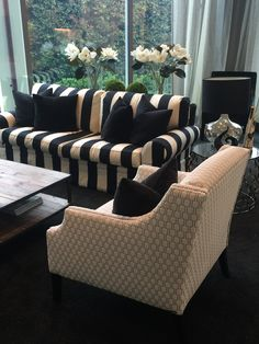 Having different fabrics, textures and designs of furniture in a lounge creates an interesting space