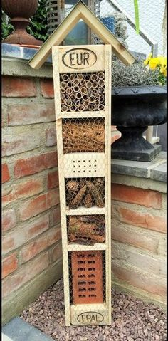 Insect hotels – Insect hotel – a unique product by Hexerei on DaWanda – Backyard Ideas Bug Hotel, Insect Hotel, Gravel Garden, Garden Arbor, Design Jardin, Garden Design, Garden Projects, Bird Houses, Garden Inspiration