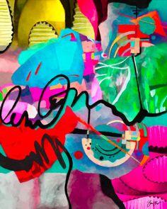 Abstract mixed media art Gina Startup