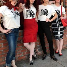 Showing up with your #GalentinesDay squad today like... ❤️We're spending the day at @uniquevintage_burbank planning our team's #OOTD! (shop link in bio!) #uniquevintage #ootd #winterstyle #currentlywearing #pinup #retro #vintagestyle #need #pinupgirl #glamour #thatsdarling #darlingmovement