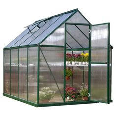 Found it at Wayfair - Nature Twin Wall Polycarbonate Greenhouse in Green $529